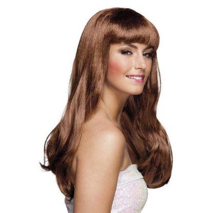 bola85867-peluca-marron-chique-larga-c-flequillo-85867