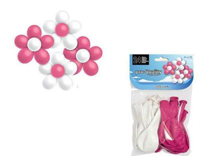 hisphg3008-globos-80cm-flor-24u-blanca-rosa-hg3008