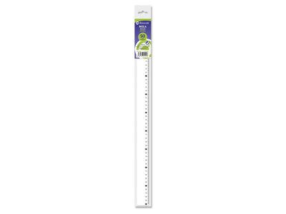 poes325142-regla-bismark-50cm-transparente-325142