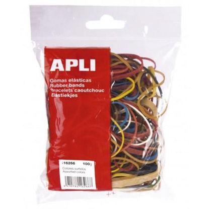 apli16266-goma-elastica-bolsa-stdo-colores-100gr