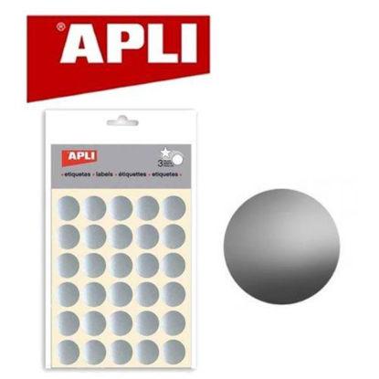 apli11809-pegatina-redonda-20mm-plata-3-hojas-11809