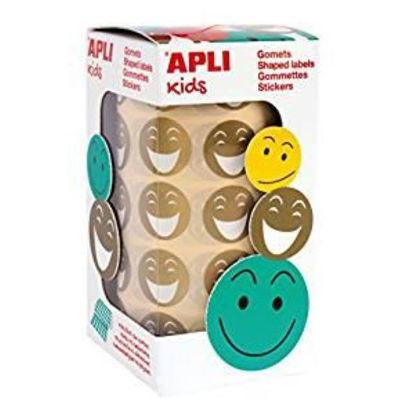 apli14374-gomets-smile-20mm-dorados-rollo