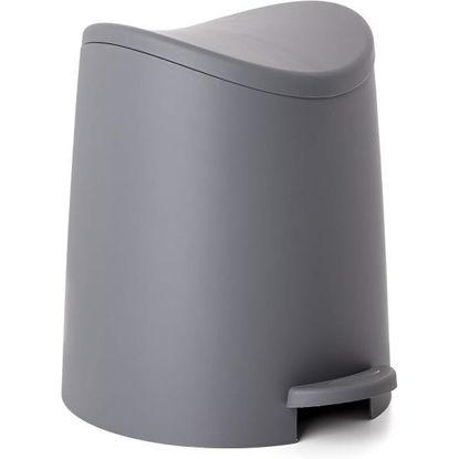 tata4470014-cubo-bano-3l-standard-gris-4470014
