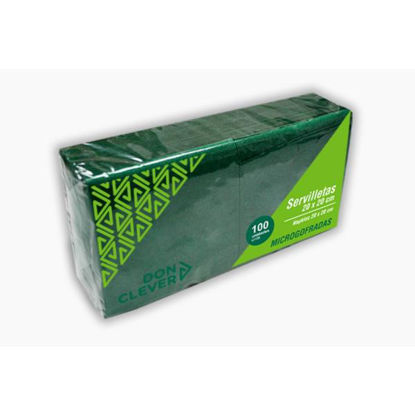 dicaser253-servilleta-microgofrada-verde-20x20cm-100u-