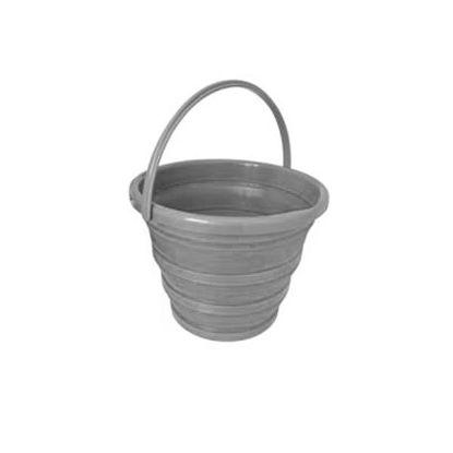 vida71140-cubo-plegable-10l-gris